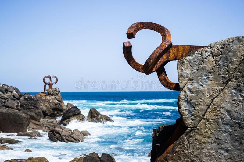 Peine del Viento sculpture in San Sebastian